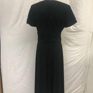 JS Boutique lace and chiffon ruched waist dress.